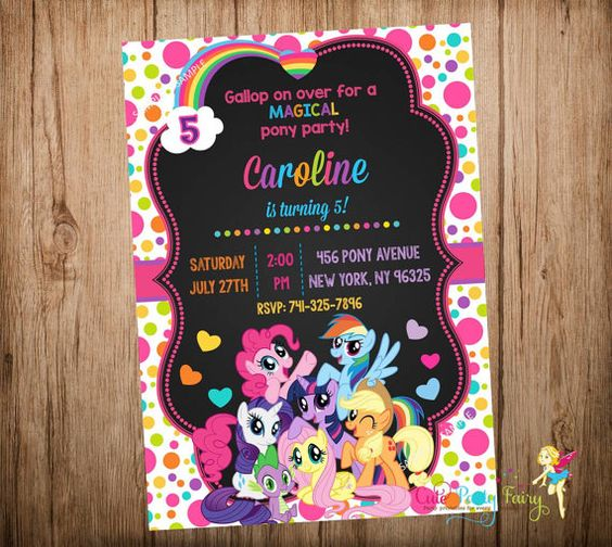 Invitation My Little Pony as luxury invitations layout