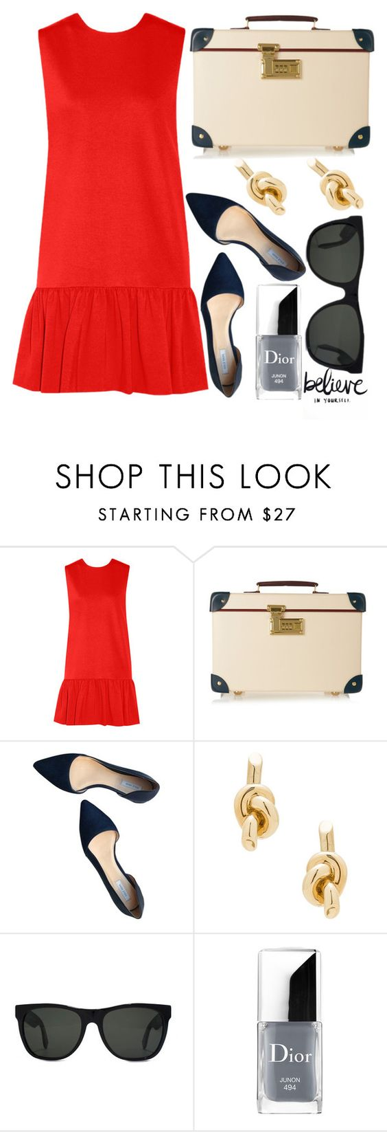 """Untitled #828"" by poshandy ❤ liked on Polyvore featuring MSGM, Globe-Trotter, Cole Haan, Balenciaga, RetroSuperFuture and Christian Dior"