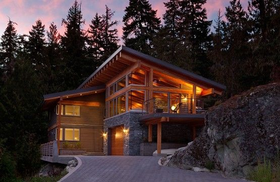 Northwest Modern Home Architecture windows, eave, ext materials - whistler, co | dream home
