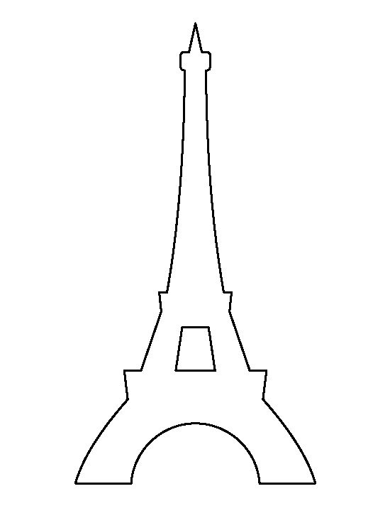 Eiffel Tower pattern. Use the printable outline for crafts, creating ...