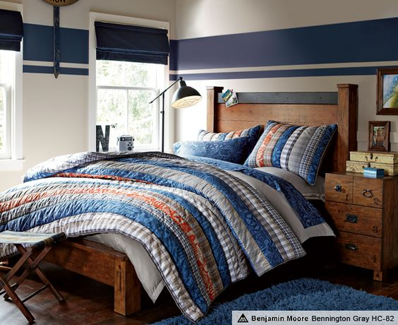 I want to paint that stripe on the boys 39 bedroom wall for Striped bedroom paint ideas