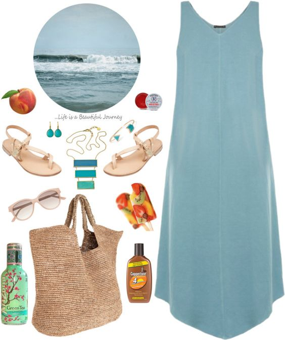 """Ocean Waves"" by gerigaskill ❤ liked on Polyvore"
