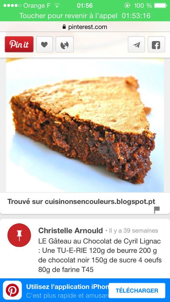 Gâteau au chocolat par Cyril Lignac