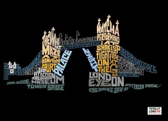 London typography and london bridge on pinterest for Design bridge london