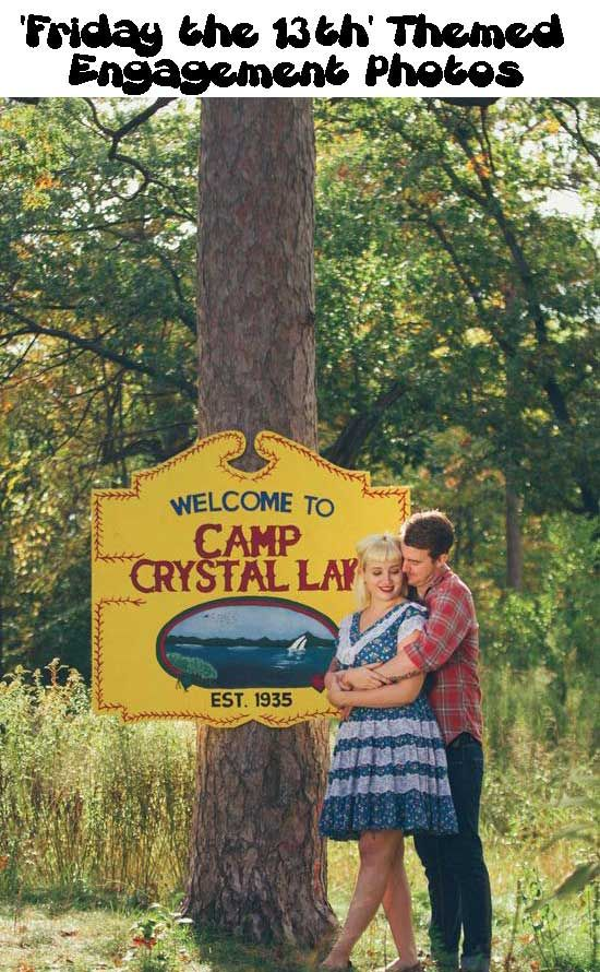Friday the 13th Themed Engagement Photos (15 Pics)
