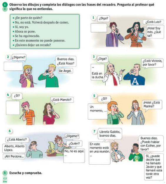 Telephoner en espagnol de todo pinterest espagnol for Conjugaison espagnol hablar