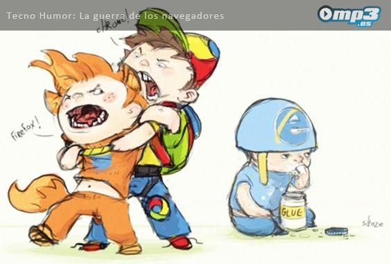 Tecno Humor - La guerra de los navegadores.  Es Viernes… ¡A relajarse!