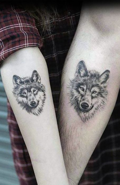35 Matching Couple Tattoos To Inspire You Wolf Tattoos For Women Couples Tattoo Designs Matching Couple Tattoos