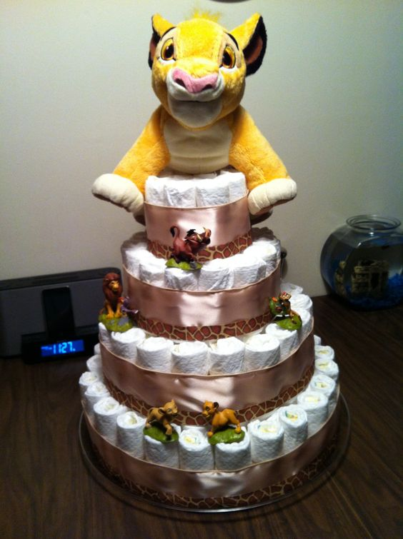 Lion King Diaper Cake Projects Pinterest Lion Cakes