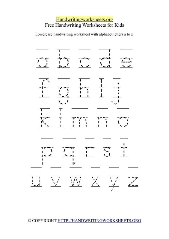 Printables Letter Handwriting Worksheets handwriting worksheets alphabet and letters on pinterest free lowercase letter printable worksheet with small 26