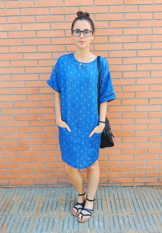 Denim fresh Dress Visit the post on my blog! #dress #denim #outfit #fashion #ootd #look