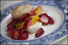 Angel Food 'Shortcakes' With Grilled Peaches and Strawberries