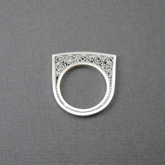 Sterling zilveren filigrain ring by MissSilver