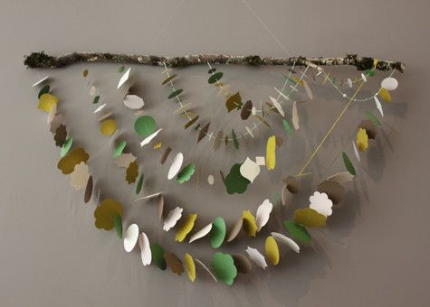 Garland strung on tree branch... so stinkin simple yet wonderful! @Mary Roy