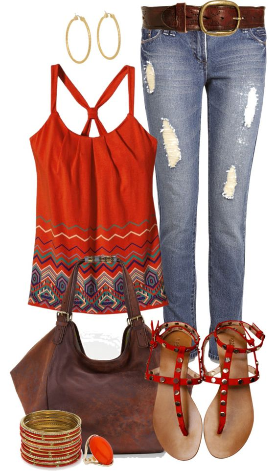 """Casual Spring Reds"" by angela-windsor on Polyvore:"
