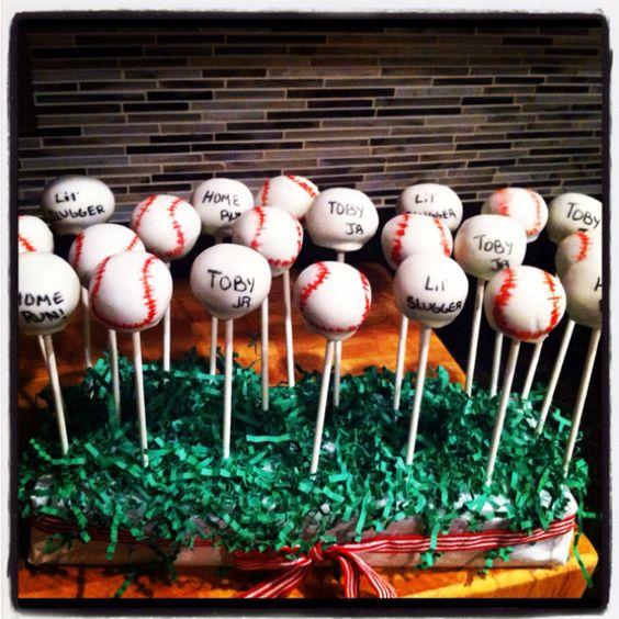 My Baseball Cakepops!: Team Treat, Zach S Team, Cake Pops, Baseball Cakepops, Babycake Cake