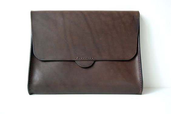 Handstitched Brown Leather  iPad Case / Sleeve by OrigamiLeather, $89.00