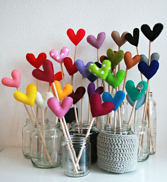 Make these Valentine's Day hearts to stack into mason jars - so cute!