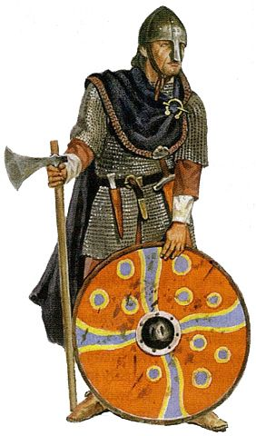 "Varganing Guard-Artist Impression. The ""Varangians"" were battle hardened norse traders, who on their long journey down to Byzantium (modern day Turkey), had to fight against a lot of pirates, and thieves, who wanted to steal their goods. The Emperors of Constantinople hired them as their personal guards. The most famous one was Harald Sigurdson Hardrada."
