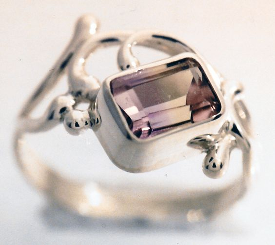Custom ring featuring ametrine in sterling silver. #custom #ring #ametrine #GoldcraftersCorner