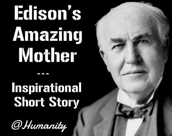 condolence letter one day edison came home and gave a paper to his 20934