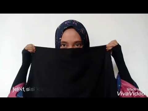 Tutorial Memakai Cadar Dari Kerudung Segi Empat Kerudung Inspirasi Gaya Gaya Hijab