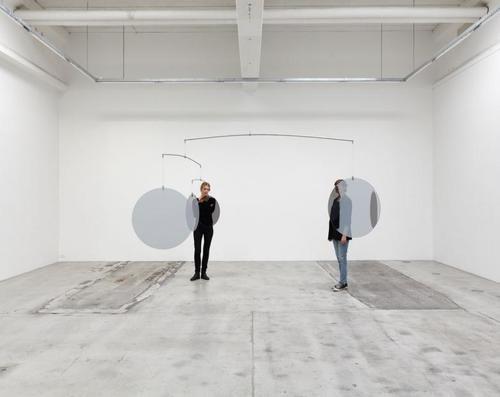 Danish artistJeppe HeinTwo Way Mirror Mobile, 2008