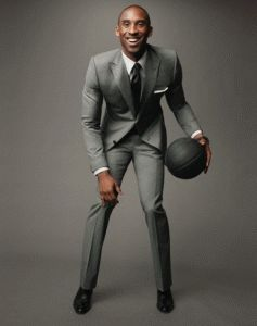 Kobe Bryant in light grey suit for #GQ | Men's Suits | Pinterest