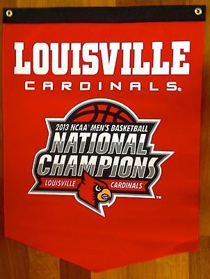 Louisville Cardinals Basketball NCAA National Championship Banner