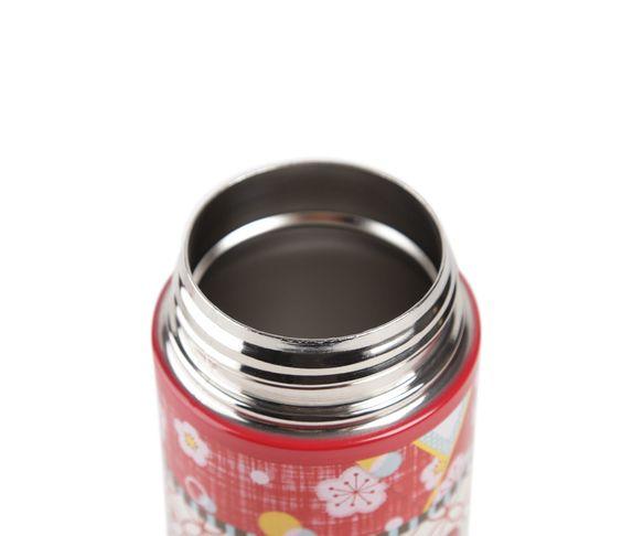 Hello Kitty 12 oz Stainless Steel Thermos: Red Kimono