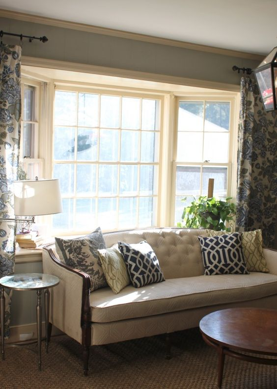 Put the couch back in front of the bay window living - Corner sofa in bay window ...