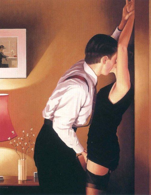 """ Game On by Jack Vettriano """
