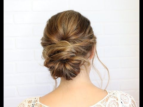 Easier Than It Looks Updo Youtube Bun Hairstyles Easy Updo Hairstyles Easy Hairstyles