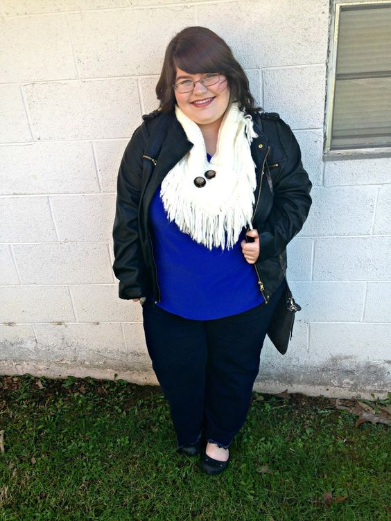 Unique Geek: Plus Size OOTD: Leather & Fringe: