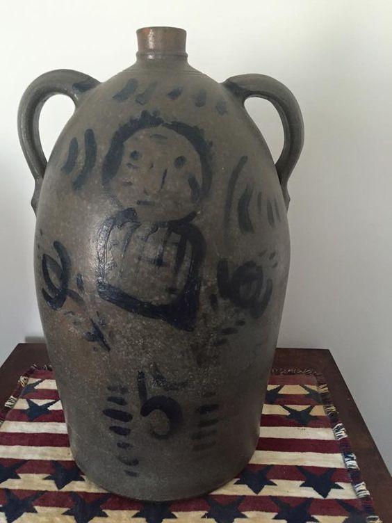 New Geneva or Greensboro, PA, 5 gallon, double handled, stoneware jug. Carol Logsdon photo.