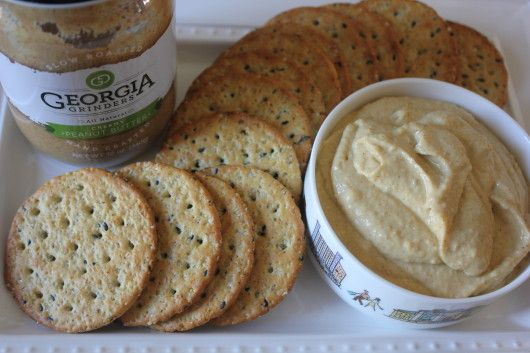 Creamier, Healthier Peanut Butter Hummus made with Atlanta's own #GeorgiaGrinders #PeanutButter