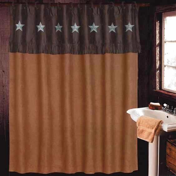Texas Star Laredo Luxury Rustic Shower Curtain Set Bathroom