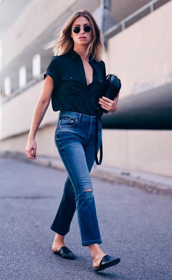 Street style look com mule. Effortless Cool | Chic Looks | Street Style | Women With Style | Style Inspiration | minimal simple | Minimal and classic | Minimal details fashion | Contemporary fashion