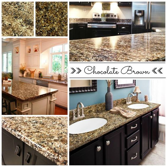 Simple Kitchen Images With Granite: Chocolate Brown, Countertop Paint And Countertops On Pinterest