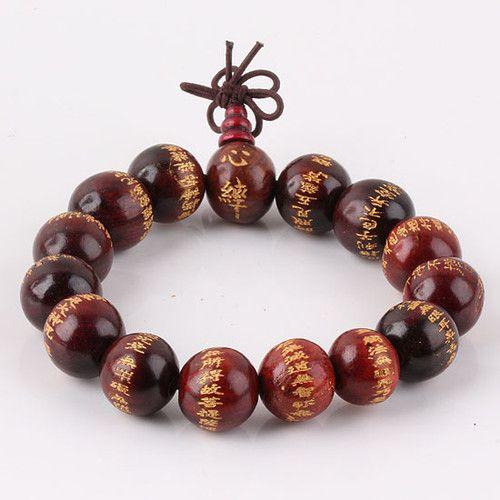 Tibetan Sandalwood Beads Buddhist Prayer Sutra Bracelet Mala 15mm   eBay $5