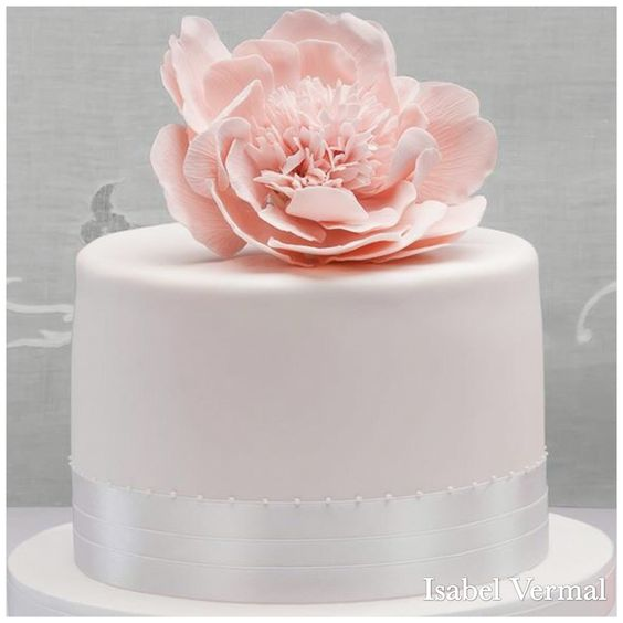 Torta Mariela con peonía