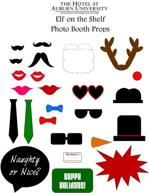 DIY Elf on the Shelf Photo Booth Props! #elfontheshelf #photobooth #hotelatauburn #DIY