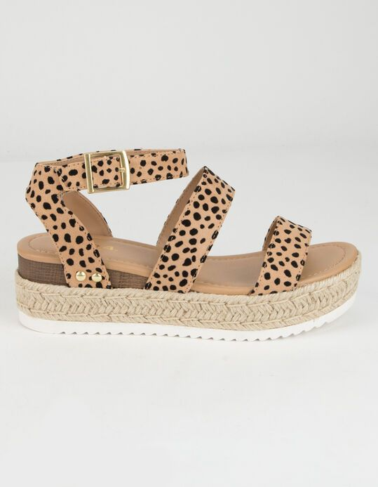 SODA Ankle Banded Womens Leopard