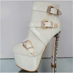 Euramerican Chunky Heel Platform Ankle Boots