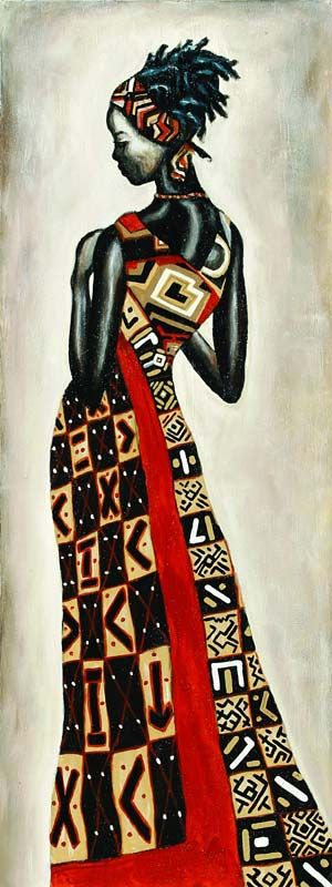 African lady artwork