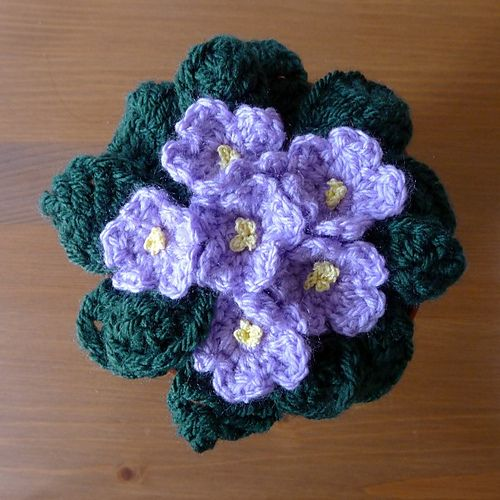 Crochet Violet Flower Pattern : To be, Ravelry and Libraries on Pinterest