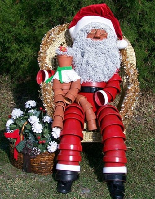 Clay Pot Santa Claus Christmas Craft