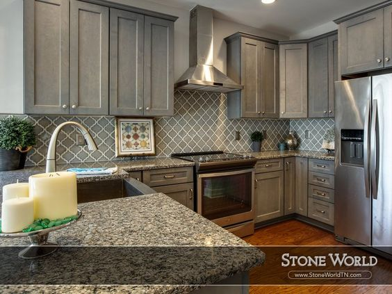 kitchens with caledonia granite - Google Search