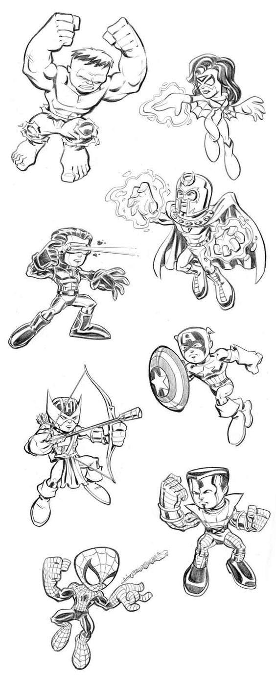 60 best LineArt: Super Hero Squad (Marvel) images on Pinterest ...