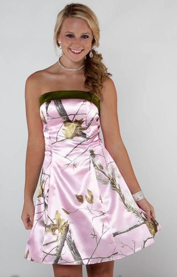 Camo wedding dresses camo and camo prom dresses on pinterest for Mossy oak camo wedding dress